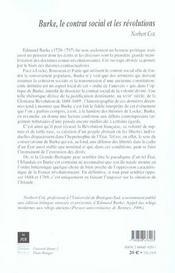 Burke, le contrat social et les revolutions - 4ème de couverture - Format classique