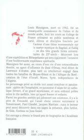 Louis Massignon ; Le