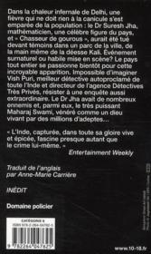 Le chasseur de gourous - 4ème de couverture - Format classique