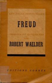 Les Pages Immortelles De Freud - Couverture - Format classique