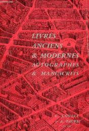 Livres Anciens & Modernes, Autographes & Manuscrits - Couverture - Format classique