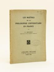 Les Maîtres de la Philosophie Universitaire en France. - Couverture - Format classique