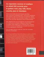 500 accords de guitare - 4ème de couverture - Format classique