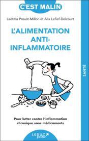 L'alimentation anti-inflammatoire - Couverture - Format classique