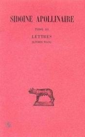 Correspondance t.3 ; livre 6 à 9 - Couverture - Format classique