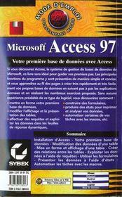 Access 97 - 4ème de couverture - Format classique