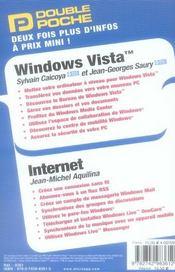 Vista et internet double poche - 4ème de couverture - Format classique
