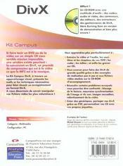 Divx - 4ème de couverture - Format classique