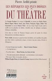 Les répliques les plus drôles du théâtre de boulevard - 4ème de couverture - Format classique