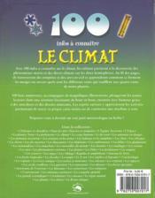 100 INFOS A CONNAITRE ; le climat - 4ème de couverture - Format classique