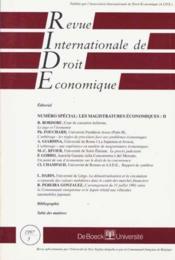 Revue Internationale De Droit Economique : Les Magistratures Economiques Ii - Couverture - Format classique