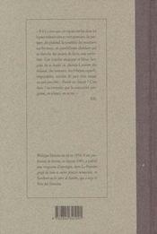 Interieur - 4ème de couverture - Format classique