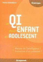 Le qi chez l'enfant et l'adolescent - Intérieur - Format classique