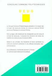 Concours Communs Polytechniques ; Filiere Deug ; Sujets Et Corriges Des Epreuves 2000 - 4ème de couverture - Format classique