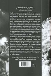 Carnaval de rio - 4ème de couverture - Format classique