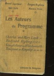 Les Auteurs Anglais Du Programme - Couverture - Format classique