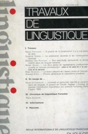 Travaux De Linguistique 18 - Couverture - Format classique