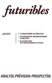 Futuribles N.95 Janvier 1986 - Couverture - Format classique