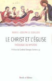 Le christ et l'eglise theologie du mystere - Intérieur - Format classique