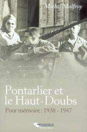 Pontarlier et le haut-doubs - Couverture - Format classique