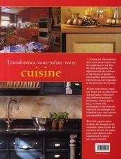 Transformez-vous même votre cuisine - 4ème de couverture - Format classique