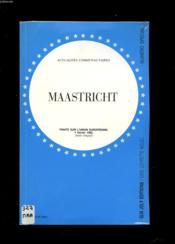 Maastricht-traite texte integ. - Couverture - Format classique