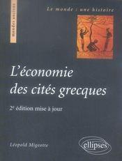 L'économie des cités grecques - Intérieur - Format classique