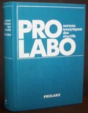 Prolabo, normes analytiques des réactifs - Couverture - Format classique