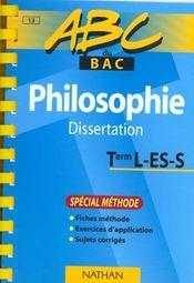 Abc Terminale Philo Dissertation Special Methode - Intérieur - Format classique