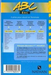 Abc Terminale Philo Dissertation Special Methode - Couverture - Format classique