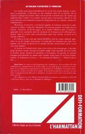 Mythologie D'Entreprise Et Formation - 4ème de couverture - Format classique