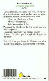 Idiomatics Francais-Espagnol (Les) - 4ème de couverture - Format classique