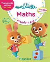 À la maternelle ; mathématiques ; GS ; premiers pas - Couverture - Format classique