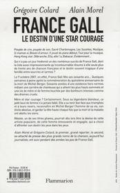 France Gall ; le destin d'une star courage - 4ème de couverture - Format classique