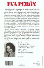 Eva Peron ; la madone des sans-chemise - 4ème de couverture - Format classique