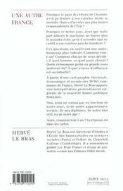 Une autre France - 4ème de couverture - Format classique