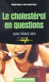 Le cholesterol - Couverture - Format classique