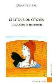 Le Retour Du Citoyen - Couverture - Format classique