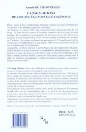 La saga du kava. du vanuatu a la nouvelle-caledonie - 4ème de couverture - Format classique