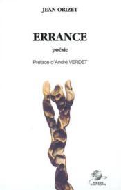 Errance - Couverture - Format classique