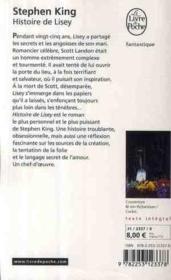Histoire de Lisey - 4ème de couverture - Format classique