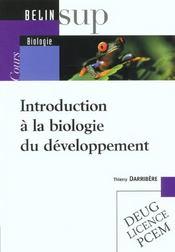 Introduction à la biologie du développement - Intérieur - Format classique