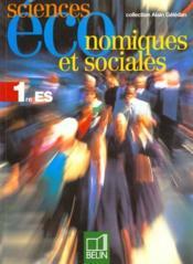 Sciences eco 1e 98 el. - Couverture - Format classique