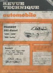Revue Technique Automobile - Janvier 1982 - N°418 - Evolution De La Construction Renault 4 Gtl - 4f6 - 5 - 5l - 5tl - 5export - 5 Societe - Etude Technique Peujeot 505 Diesel Grd - Srd - Srd Turbo - Couverture - Format classique