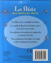 La flûte ; une méthode facile - 4ème de couverture - Format classique