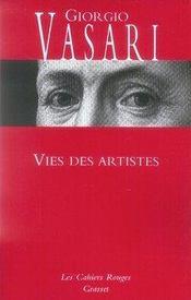 Vies des artistes - Intérieur - Format classique