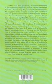 Jean-henri fabre l'observateur incomparable - 4ème de couverture - Format classique