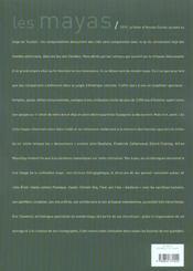 Les mayas - 4ème de couverture - Format classique