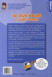 150 jeux malins et leurs secrets - 4ème de couverture - Format classique