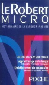 Le Robert micro poche - Couverture - Format classique